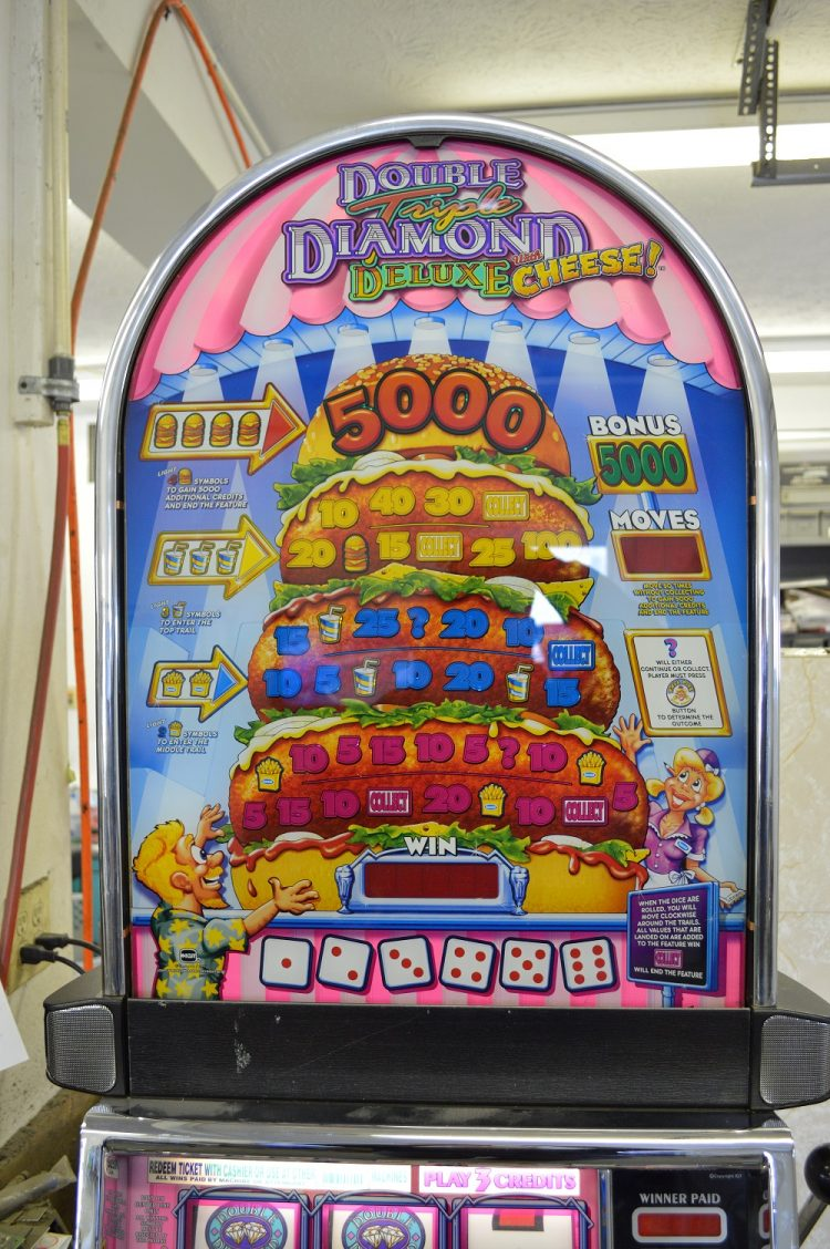 triple diamond deluxe slot machine parts