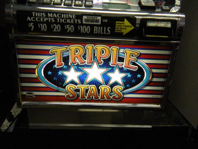 Triple Stars 5 Reel Slot Machine