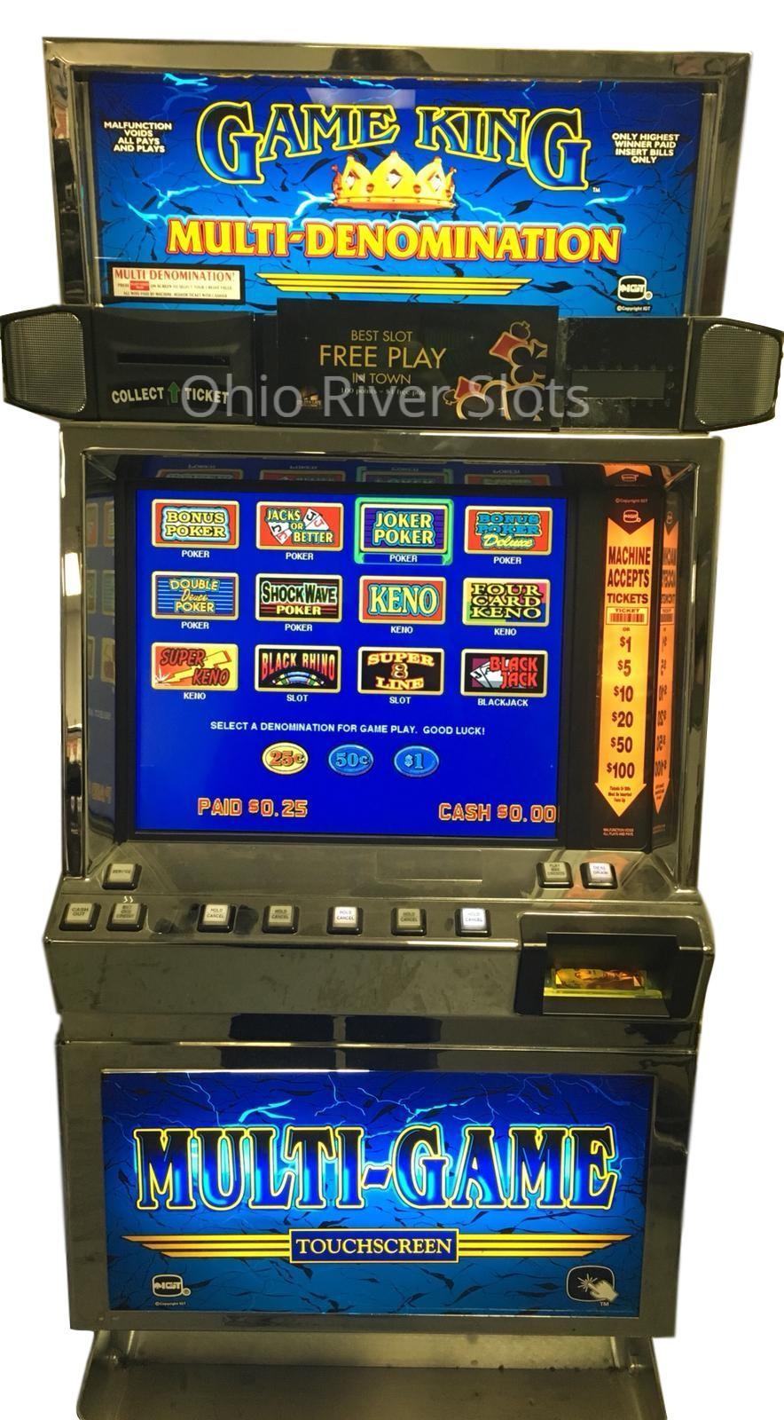 Game King Slot Machine For Sale