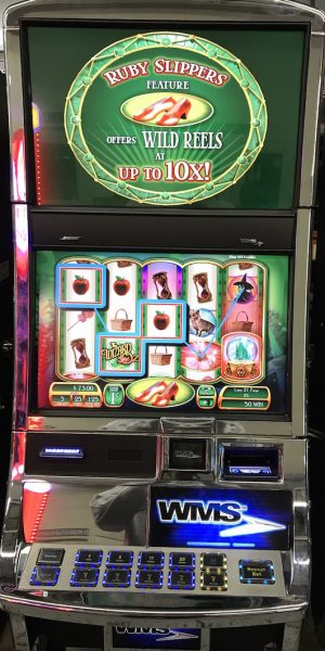 Wizard of Oz Ruby Slippers slot machine